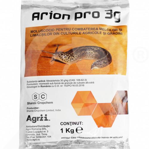 ro sharda cropchem molluscicide arion pro 3g 1 kg - 1, small