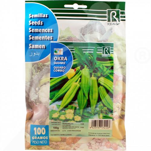 ro rocalba seed okra quiabo combo 100 g - 2, small