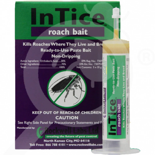 ro rockwell labs insecticide intice roach 35 g - 1, small