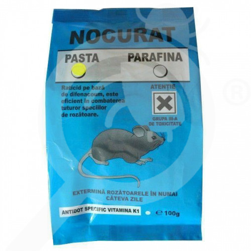 ro india pesticide rodenticide nocurat pasta 100 g - 2, small