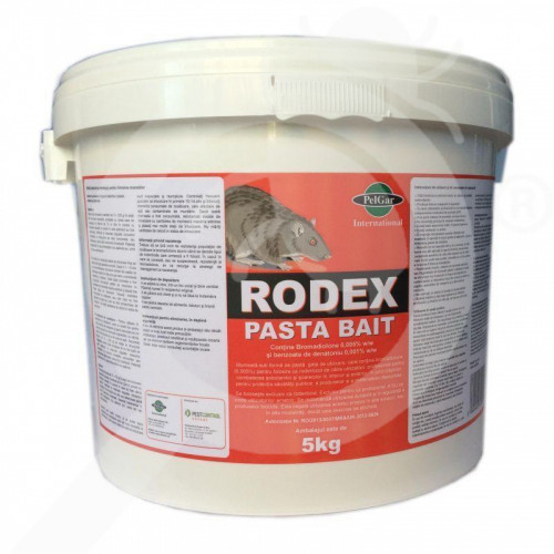 ro pelgar raticid rodex pasta bait 5 kg - 1