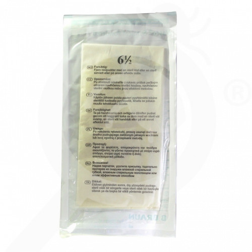 ro b braun gloves vasco surgical powdered 6 5 2 p - 1