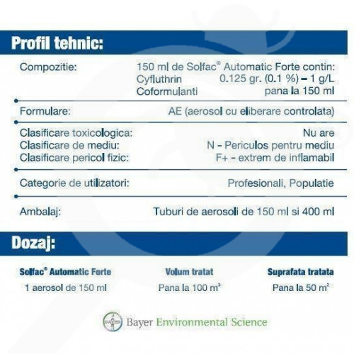 ro bayer insecticid solfac automatic forte 150 ml - 1