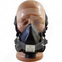bg romcarbon safety equipment half mask srf - 0, small