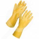 bg deltaplus safety equipment starling latex rubber gloves - 3, small