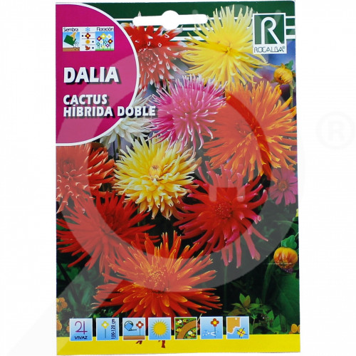 bg rocalba seed dahlia cactus hibrida doble 0 5 g - 0, small