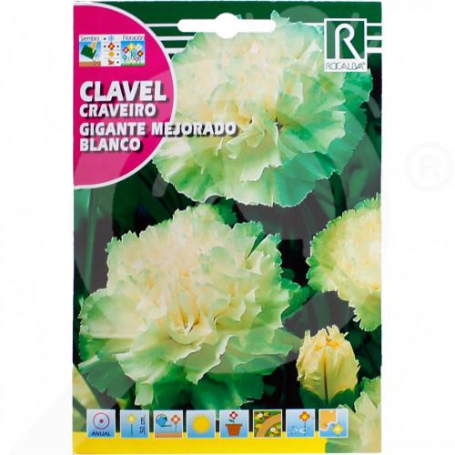 bg rocalba seed carnations gigante mejorado blanco 1 g - 0