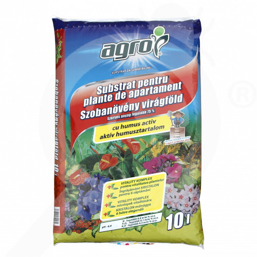 bg agro cs substrate room plants substrate 10 l - 0, small