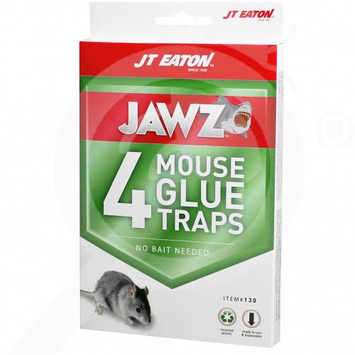bg jt eaton adhesive plate jawz mouse glue trap 4 p - 0, small