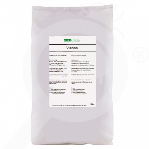 bg hauert fertilizer biorga vianos 25 kg - 0, small