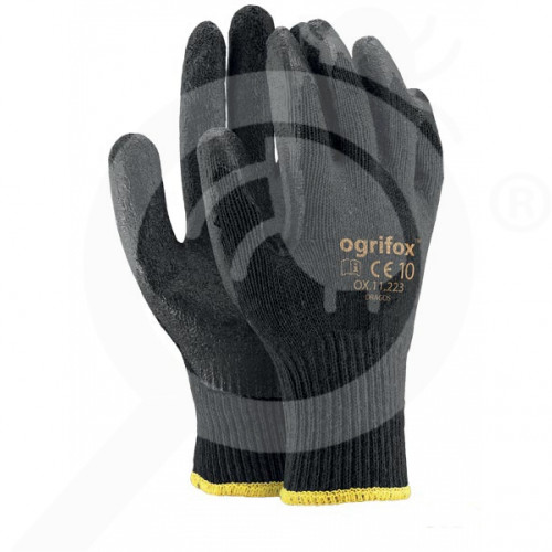 bg ogrifox safety equipment gloves ox dragos latex - 1, small