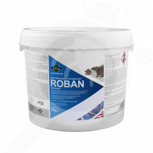 bg pelgar rodenticide roban pasta bait 5 kg - 1, small
