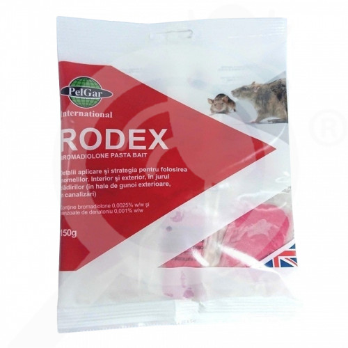 bg pelgar rodenticide rodex pasta bait 150 g - 1, small